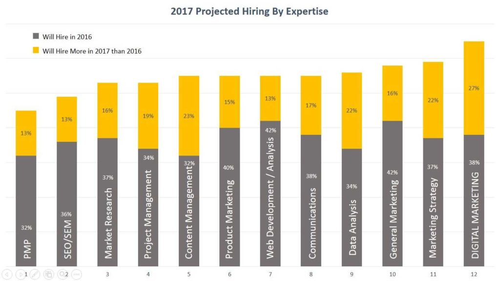 Hiring Stats by Expertise